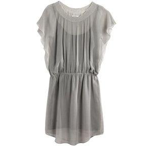 Madewell Daisy Field 100% Silk Floral Sheath Dress